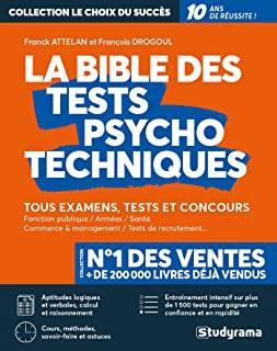 LA BIBLE DES TESTS PSYCHOTECHNIQUES ATTELAN, FRANCK STUDYRAMA
