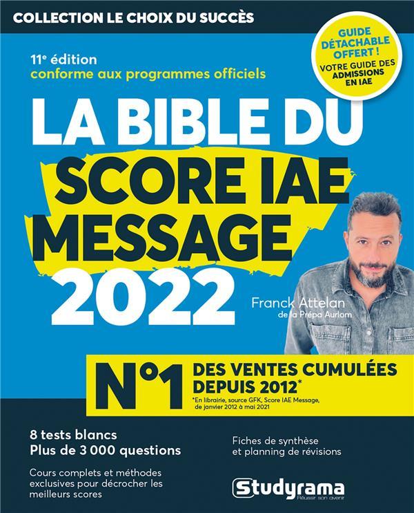 LA BIBLE DU SCORE IAE MESSAGE 2022 - 11E EDITION