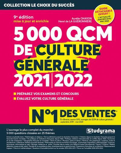 5000 QCM DE CULTURE GENERALE