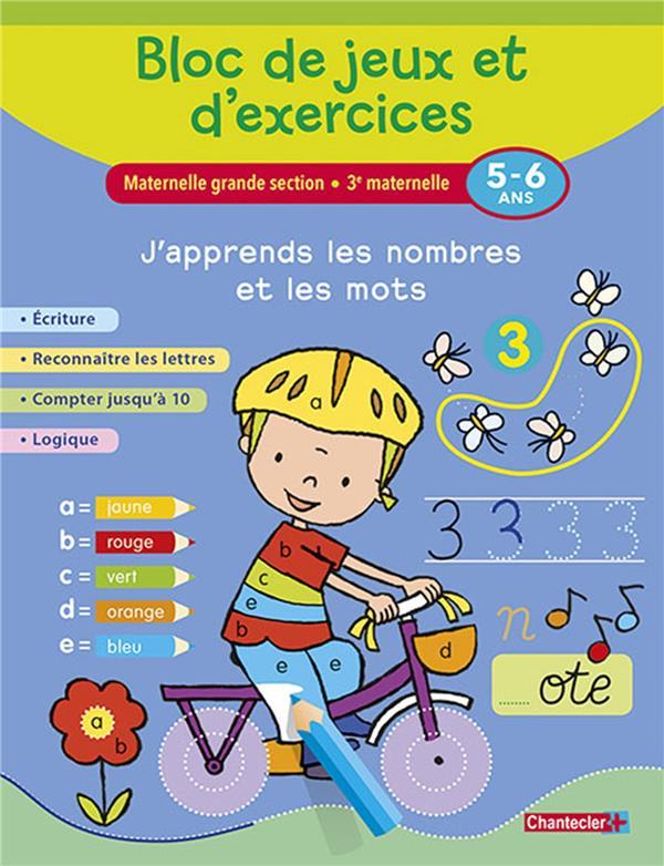 BLOC DE JEUX ET D'EXERCICES-J'APPRENDS LES NOMBRESMOTS (5-6