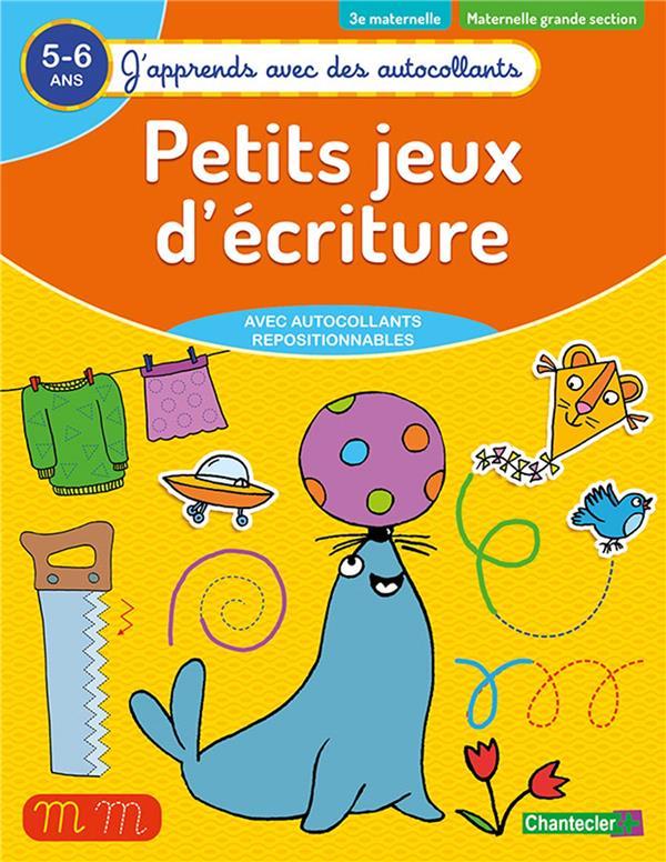 J'APPRENDS AVEC DES AUTOCOLLANTS - PETITS JEUX D'ECRITURE (5-6 A.)