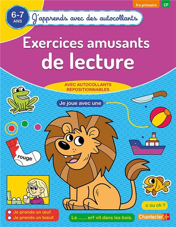 J'APPRENDS AVEC DES AUTOCOLLANTS - EXERCICES AMUSANTS DE LECTURE (6-7 A.)