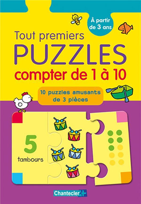 TOUT PREMIERS PUZZLES - COMPTER DE 1 A 10 - A PARTIR DE 3 ANS - 10 PUZZLES AMUSANTS DE 3 PIECES COLLECTIF Lgdj