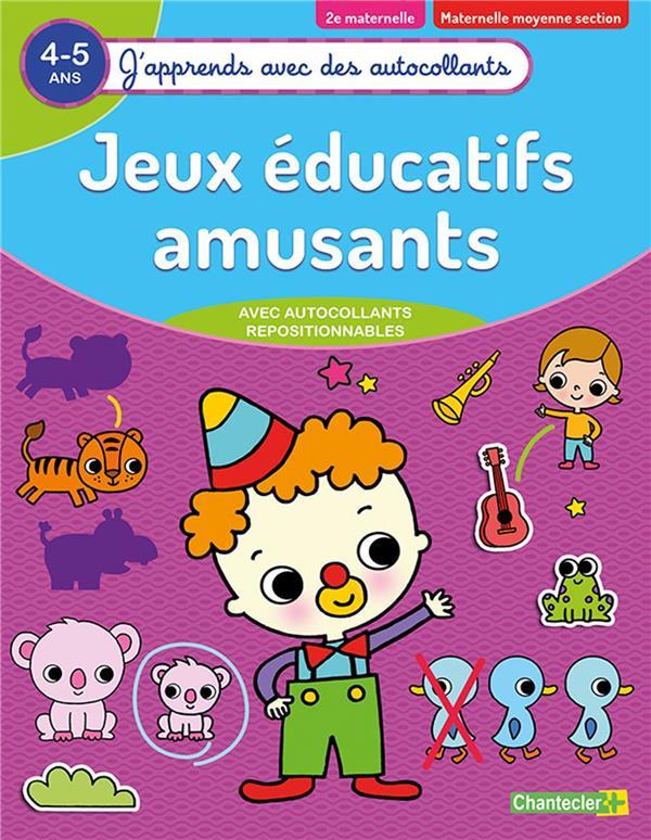 JEUX EDUCATIFS AMUSANTS (4-5 A.) - (J'APPRENDS AVEC DES AUTOCOLLANTS)