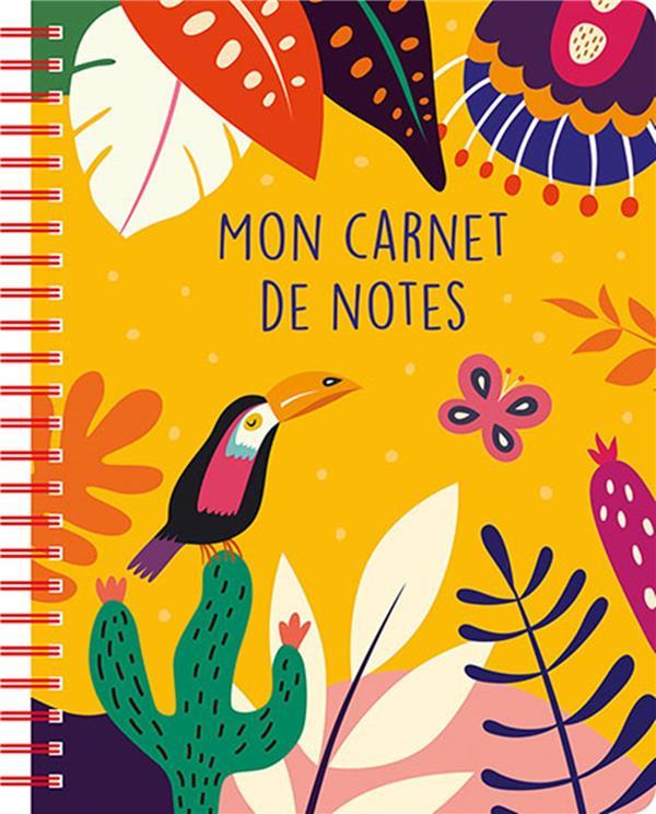 MON CARNET DE NOTES  -  TROPICAL YELLOW COLLECTIF NC