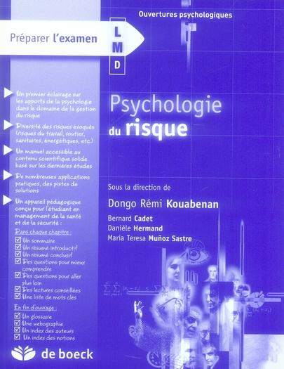PSYCHOLOGIE DU RISQUE