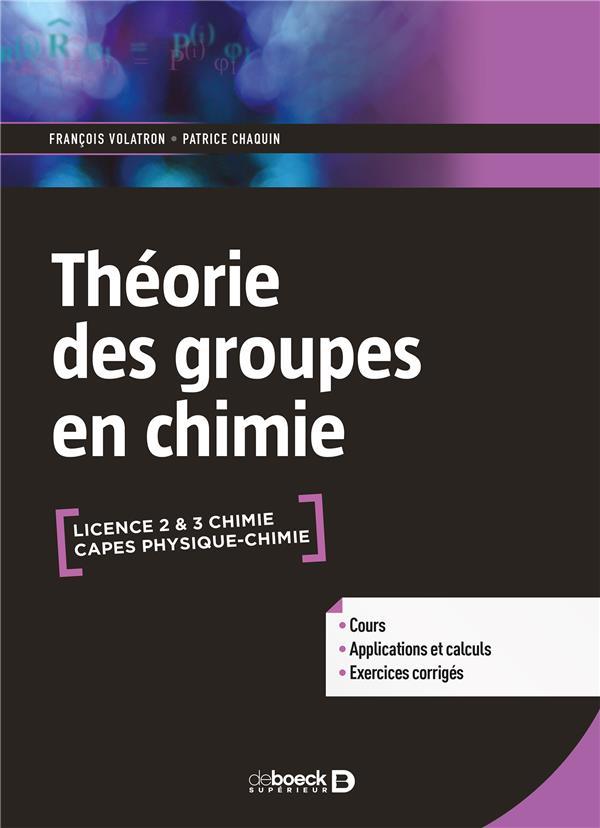 LA THEORIE DES GROUPES EN CHIMIE