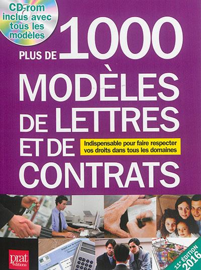 1000 MODELES DE LETTRES 2016 Gendrey Patricia Prat