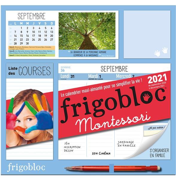 FRIGOBLOC MONTESSORI  -  CALENDRIER D'ORGANISATION FAMILIALE (EDITION 2021)
