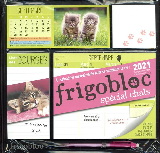 FRIGOBLOC SPECIAL CHATS  -  CALENDRIER D'ORGANISATION FAMILIALE (EDITION 2021) XXX NC