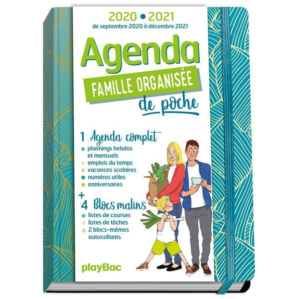 AGENDA DE POCHE FAMILLE ORGANISEE  -  BLEU (EDITION 20202021)