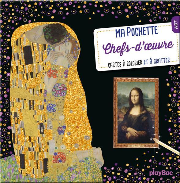MA POCHETTE CHEFS-D'OEUVRE  -  CARTES A COLORIER ET A GRATTER XXX PRISMA