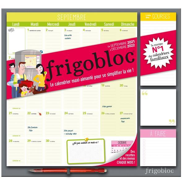 FRIGOBLOC  -  CALENDRIER D'ORGANISATION FAMILIALE PAR MOIS (EDITION 2022) XXX NC