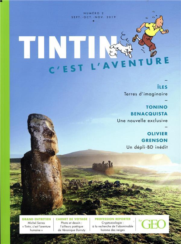 TINTIN C'EST L'AVENTURE 2, LES ILES COLLECTIF FEMME ACTUELLE