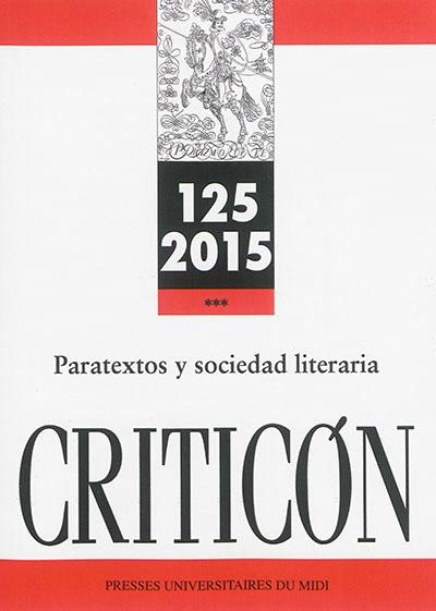 PARATEXTOS Y SOCIEDAD LITERARIA