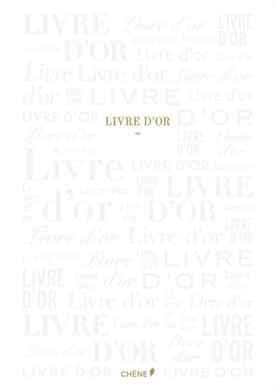 LIVRE D'OR BLANC GRAND XXX Chêne