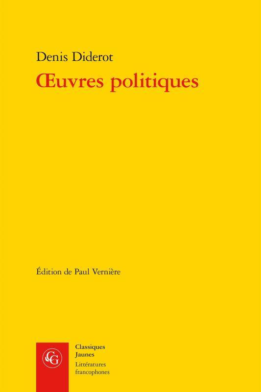 LITTERATURES FRANCOPHONES - T490 - OEUVRES POLITIQUES