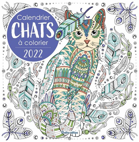 CALENDRIER CHATS A COLORIER (EDITION 2022)  COLLECTIF NC