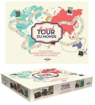 LE GRAND TOUR DU MONDE LONELY PLANET - JEU DE PLATEAU COLLECTIF LONELY PLANET