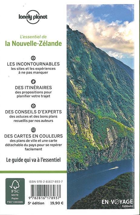 NOUVELLE-ZELANDE (5E EDITION) COLLECTIF LONELY PLANET