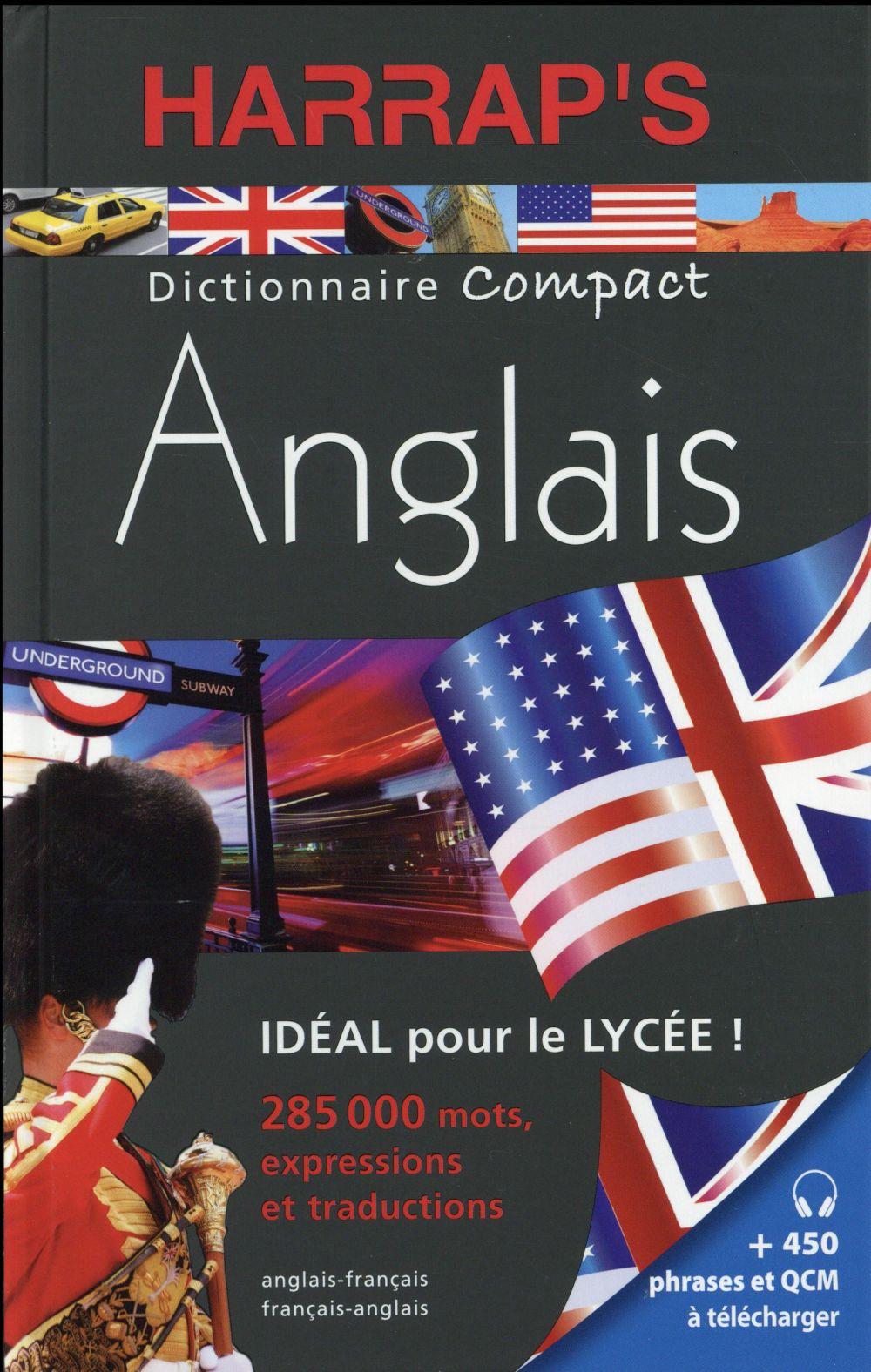 DICTIONNAIRE HARRAP'S COMPACT  -  ANGLAIS-FRANCAIS  FRANCAIS-ANGLAIS (EDITION 2016) XXX Harrap 's