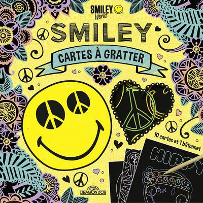 SMILEY - CARTES A GRATTER - PEACE AND LOVE