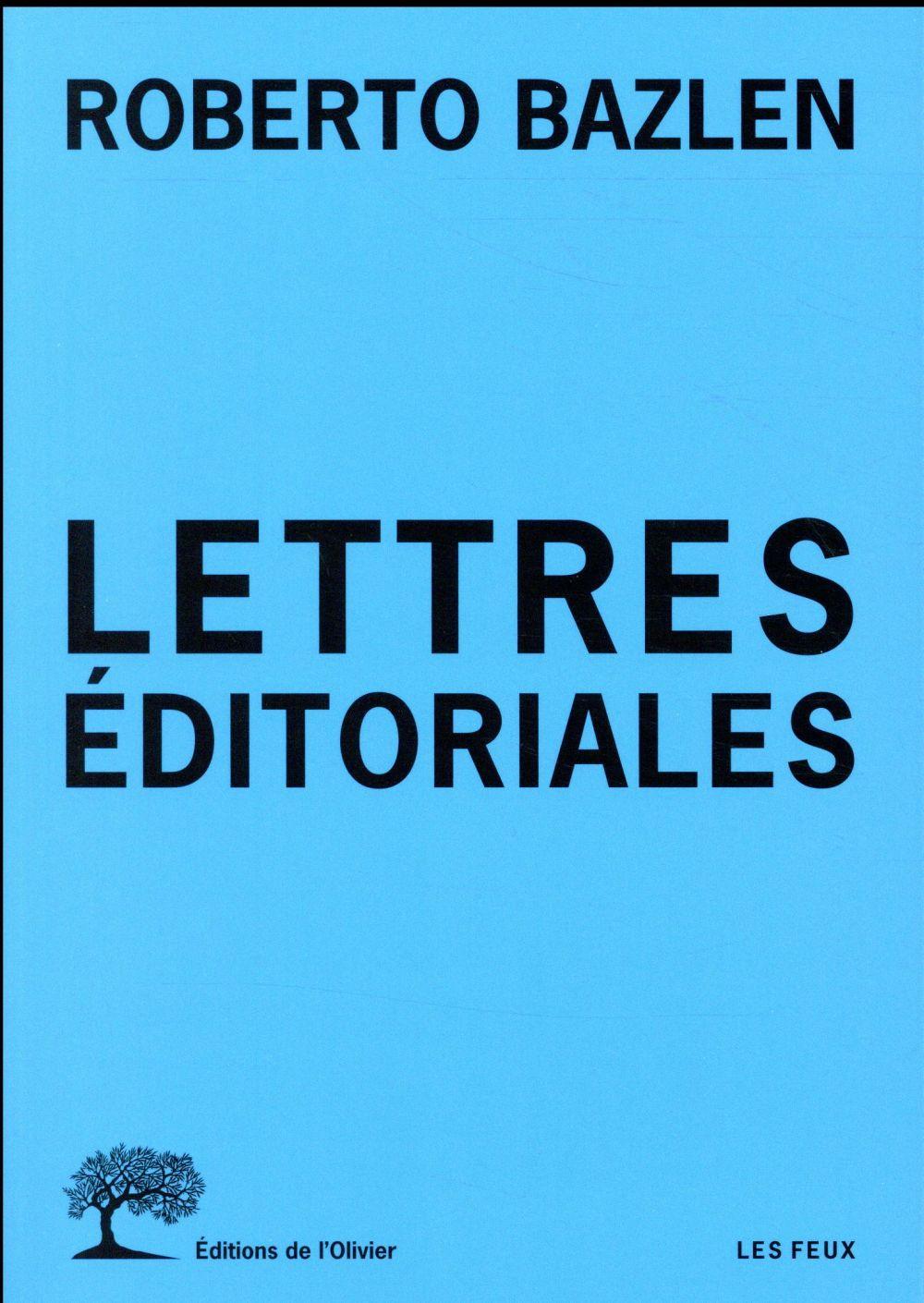 LETTRES EDITORIALES