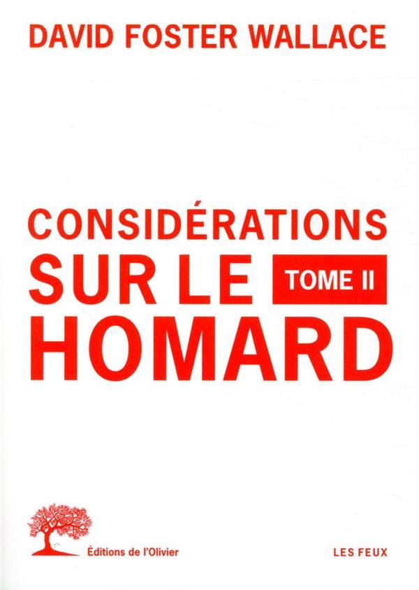 CONSIDERATIONS SUR LE HOMARD -