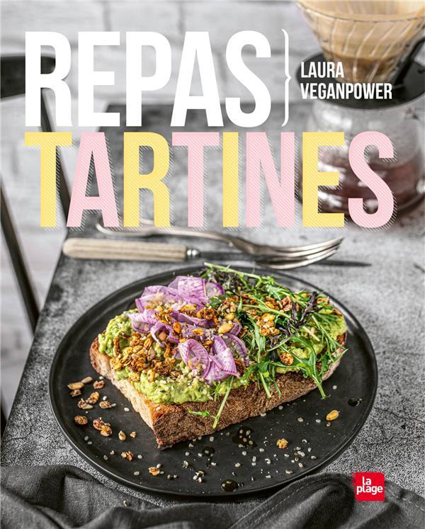REPAS TARTINES VEGANPOWER LAURA PLAGE