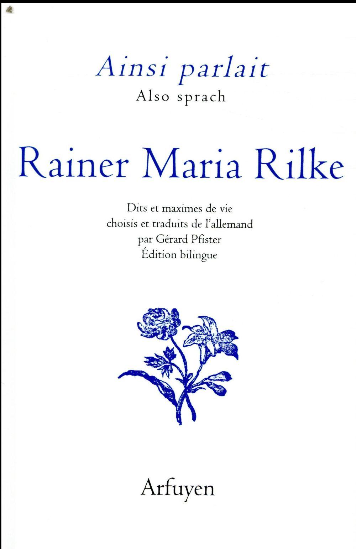 AINSI PARLAIT T.14  -  RAINER MARIA RILKE RILKE/PFISTER ARFUYEN