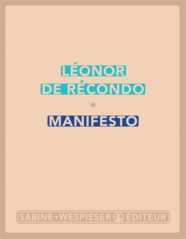 MANIFESTO RECONDO LEONOR DE SABINE WESPIESE