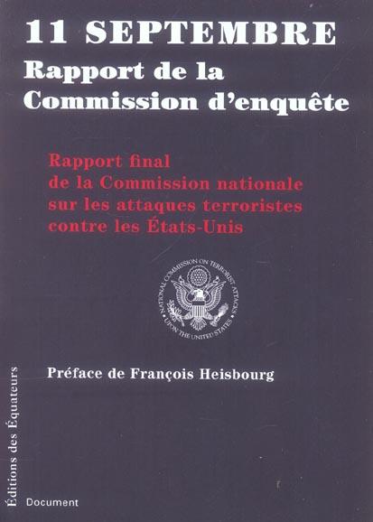 11 SEPTEMBRE  -  RAPPORT DE LA COMMISSION D'ENQUETE COLLECTIF DES EQUATEURS