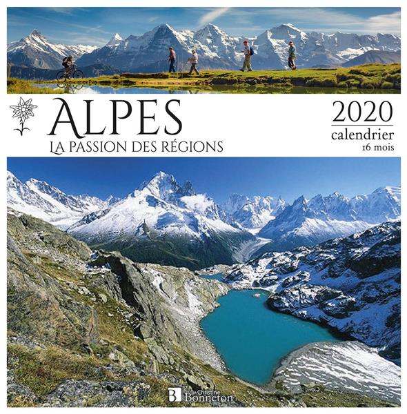 CALENDRIER LES ALPES 2020 - LA PASSION DES REGIONS COLLECTIF Lgdj