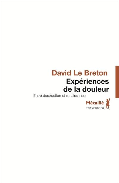 EXPERIENCES DE LA DOULEUR LE BRETON DAVID METAILIE