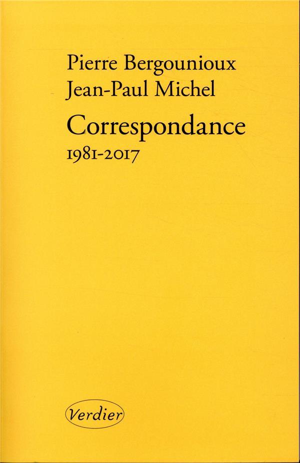 CORRESPONDANCE 1981-2017