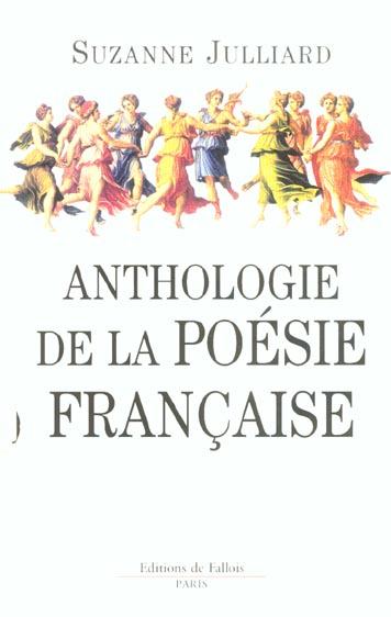 ANTHOLOGIE DE LA POESIE FRANCAISE JULLIARD SUZANNE DE FALLOIS