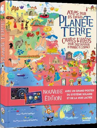 PLANETE TERRE - ATLAS POUR LES ENFANTS - NE (COLL. VOYAGE AUTOUR DU MONDE)