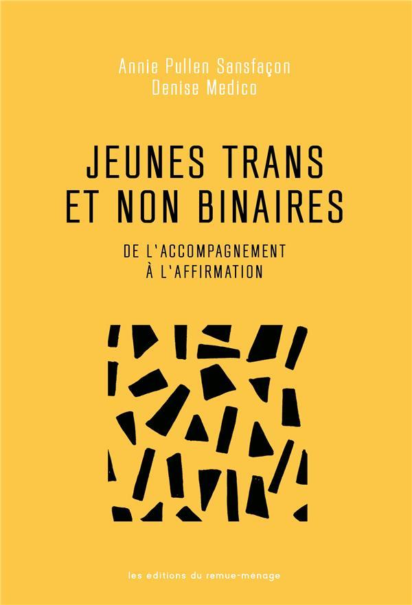 JEUNES TRANS ET NON BINAIRES : DE L'ACCOMPAGNEMENT A L'AFFIRMATION PULLEN SANFACON ANNI REMUE MENAGE