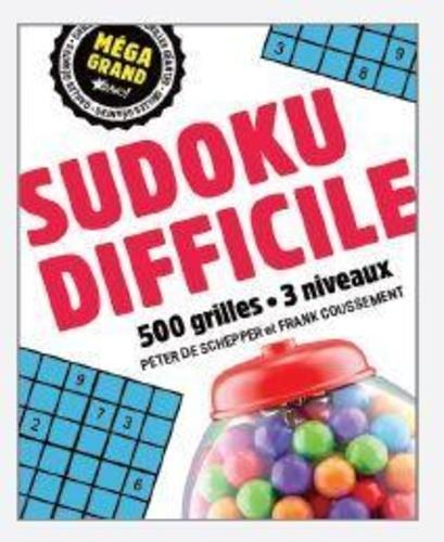 MEGA GRAND SUDOKU DIFFICILE DE SCHEPPER PETER NC