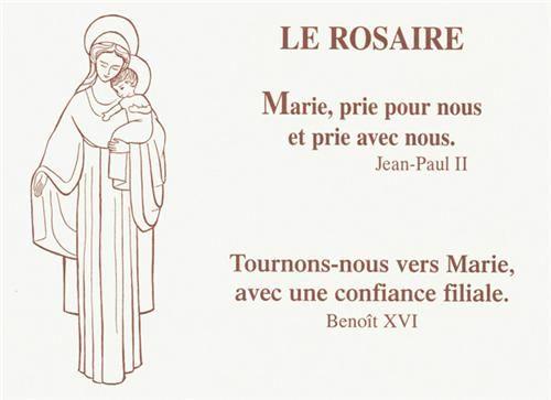 LE ROSAIRE  -  MARIE PRIE POUR NOUS ET AVEC NOUS  -  TOURNONS-NOUS VERS MARIE AVEC UNE CONFIANCE FILIALE