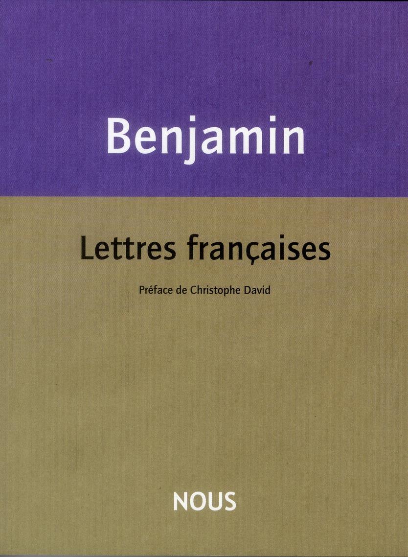 LETTRES FRANCAISES
