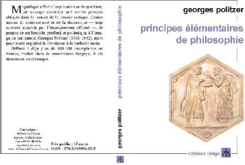 PRINCIPES ELEMENTAIRES DE PHILOSOPHIE