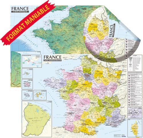 FRANCE CARTE PHYSIQUE ET ADMINISTRATIVE (EDITION 2021) XXX NC