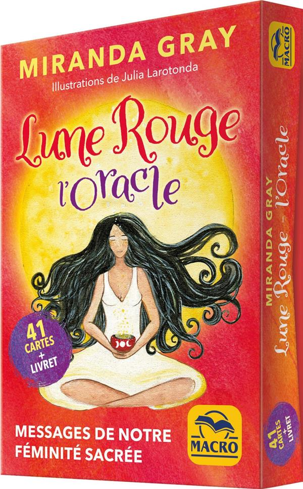 LUNE ROUGE, L' ORACLE : 41 CARTES  -  MESSAGES DE NOTRE FEMINITE SACREE MIRANDA GRAY NC