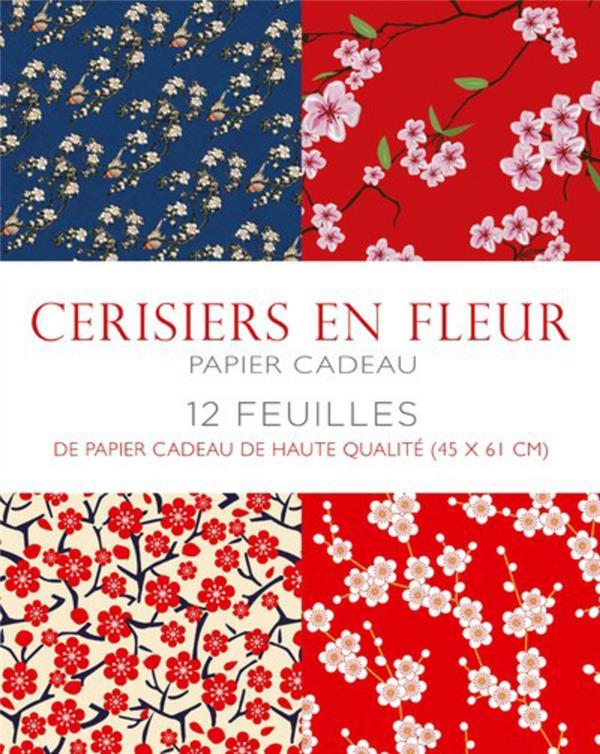 CERISIERS EN FLEUR - PAPIER CA COLLECTIF WHITE STAR