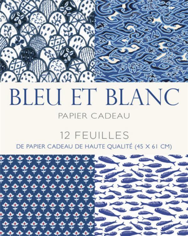 BLEU ET BLANC - PAPIER CADEAU COLLECTIF WHITE STAR