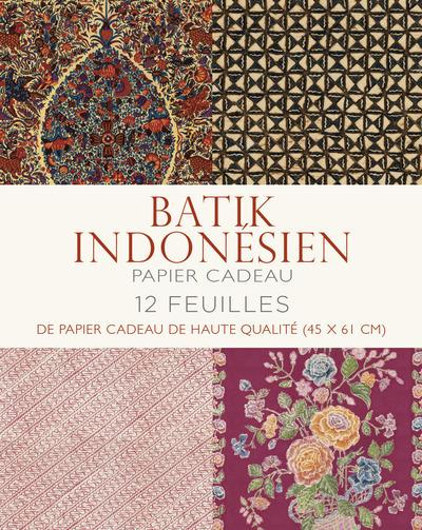 BATIK INDONESIEN PAPIER CADEAU COLLECTIF WHITE STAR
