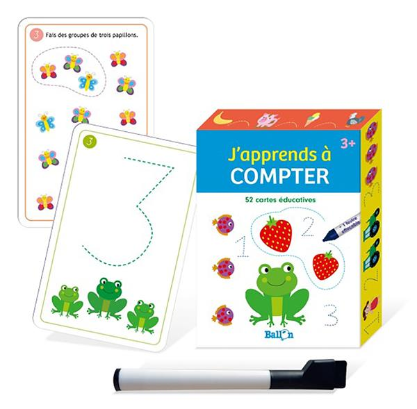 J'APPRENDS A COMPTER : 52 CARTES EDUCATIVES