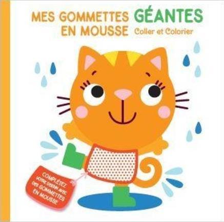 MES GOMMETTES GEANTES EN MOUSSE  -  CHAT COLLECTIF NC