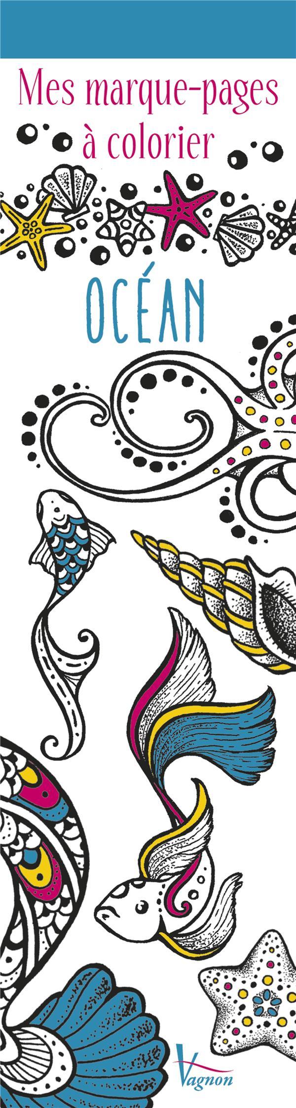 MES MARQUE-PAGES A COLORIER : OCEAN